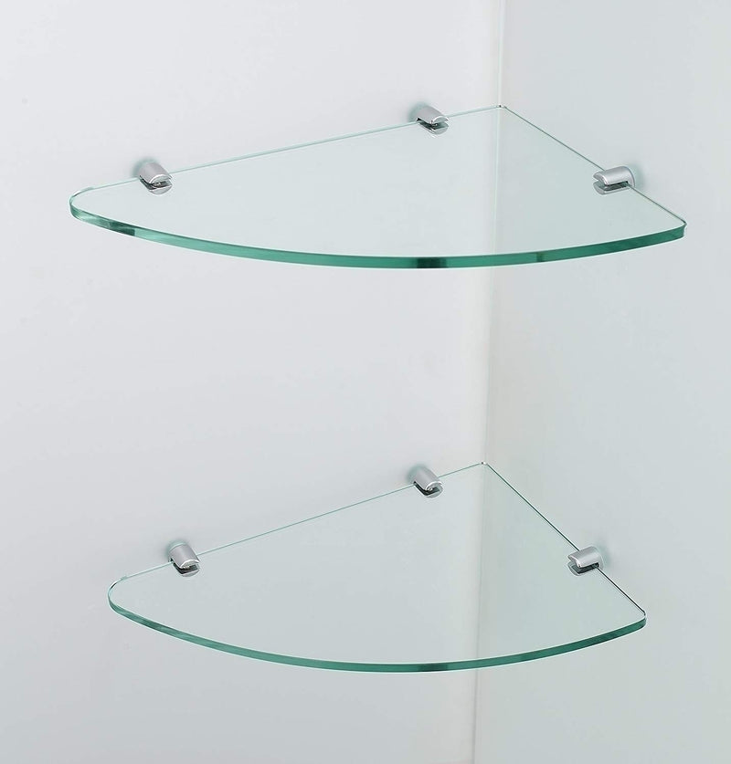 Aston BromleyGS 57.25 to 58.25 x 34.375 x 72 Frameless Corner Hinged Shower Enclosure with Glass Shelves in Chrome 3