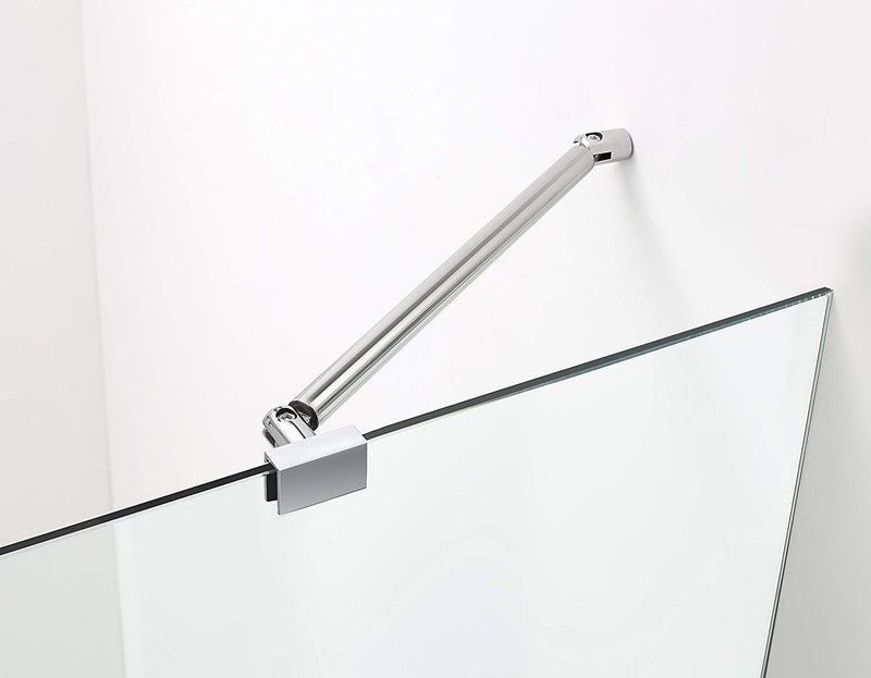 Aston Belmore 62.25 in. to 63.25 in. x 72 in. Frameless Hinged Shower Door in Chrome 3