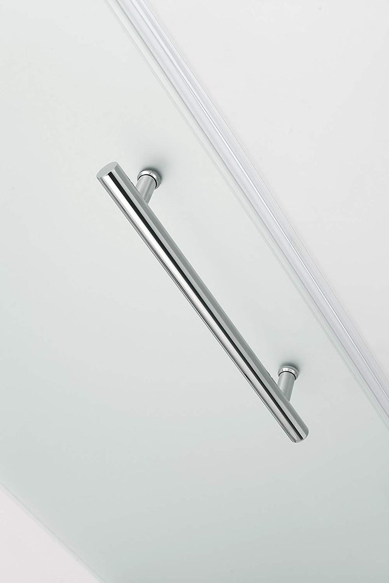 Aston Belmore 41.25 in. to 42.25 in. x 72 in. Frameless Hinged Shower Door with Frosted Glass in Oil Rubbed Bronze 4