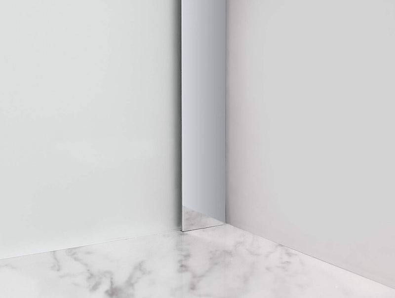 Aston Belmore 69.25 in. to 70.25 in. x 72 in. Frameless Hinged Shower Door with Frosted Glass in Chrome 5