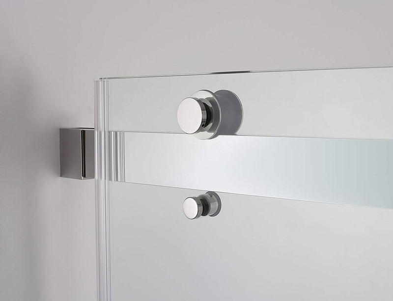 Aston Rivage 56 in. to 60 in. x 76 in. Frameless Double-Bypass Sliding Shower Door in Chrome 3