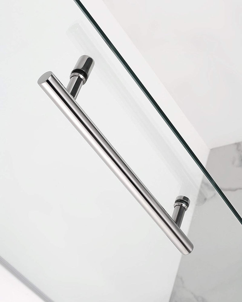 Aston Kinkade 30.75 in. to 31.25 in. x 72 in. Frameless Hinged Shower Door in Chrome 3