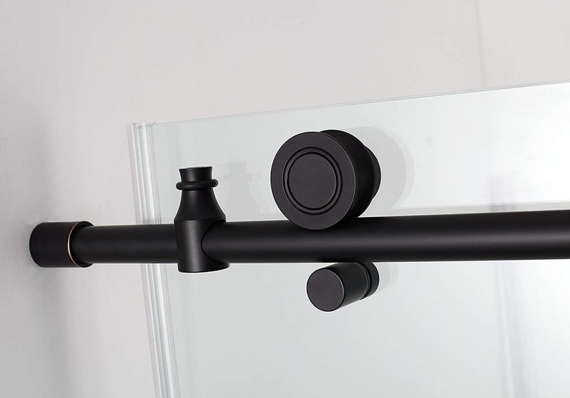 Aston Coraline 68 in. to 72 in. x 33.875 in. x 76 in. Frameless Sliding Shower Enclosure in Oil Rubbed Bronze 3