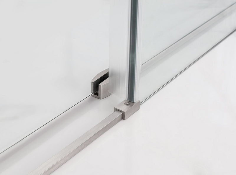 Aston Coraline 56 in. to 60 in. x 76 in. Frameless Sliding Shower Door in Stainless Steel 4