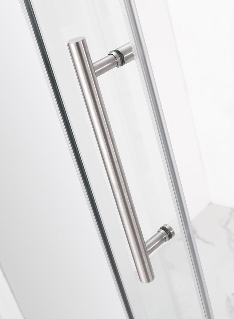 Aston Coraline 56 in. to 60 in. x 76 in. Frameless Sliding Shower Door in Stainless Steel 5