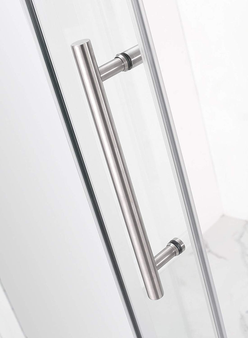 Aston Coraline 56 in. to 60 in. x 60 in. Frameless Sliding Tub Door in Stainless Steel 4