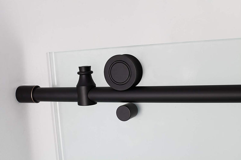 Aston Coraline 68 in. to 72 in. x 33.875 in. x 76 in. Frameless Sliding Shower Enclosure with Frosted Glass in Oil Rubbed Bronze 3