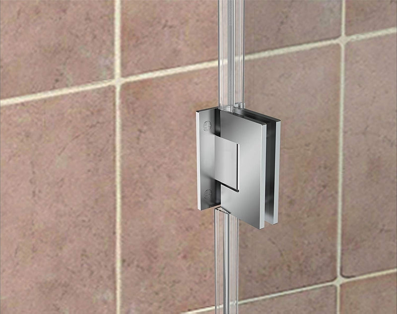 Aston Kinkade 30.75 in. to 31.25 in. x 72 in. Frameless Hinged Shower Door in Chrome 4