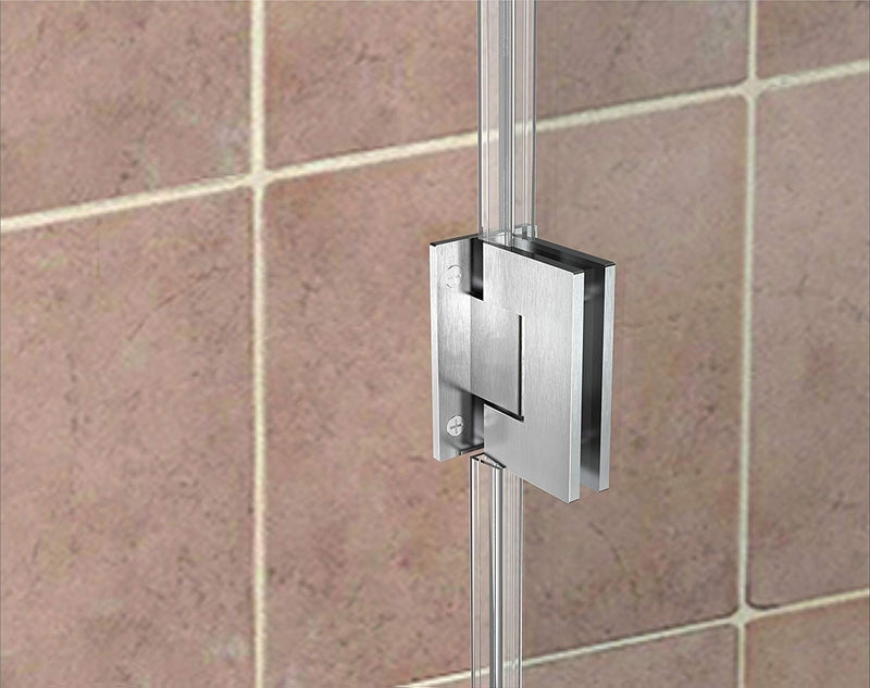 Aston Kinkade 31.75 in. to 32.25 in. x 72 in. Frameless Hinged Shower Door in Stainless Steel 4