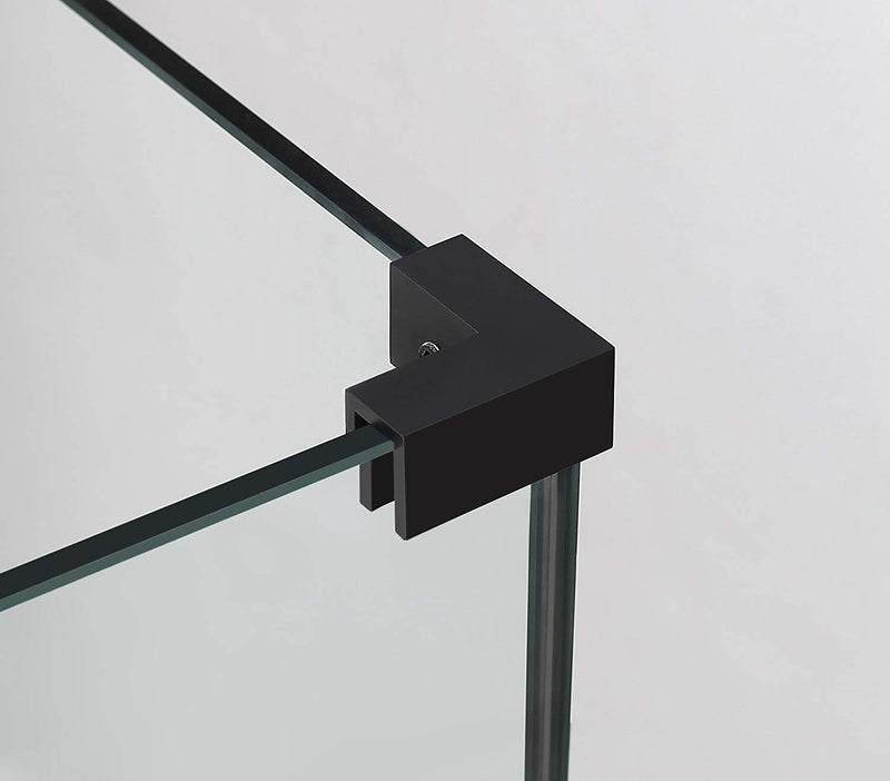 Aston Bromley 32.25 in. to 33.25 in. x 36.375 in. x 72 in. Frameless Corner Hinged Shower Enclosure in Oil Rubbed Bronze 4