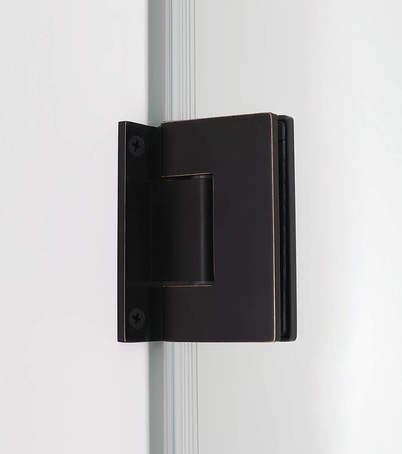 Aston Belmore GS 62.25 in. to 63.25 in. x 72 in. Frameless Hinged Shower Door with Glass Shelves in Oil Rubbed Bronze 5