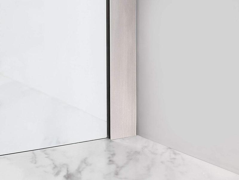 Aston Madox 42 in. to 48 in. x 74.875 in. Frameless Pivot Shower Door in Stainless Steel 6