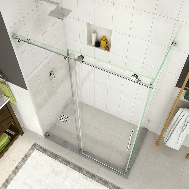 Aston Coraline 56 in. to 60 in. x 33.875 in. x 76 in. Frameless Sliding Shower Enclosure in Oil Rubbed Bronze 6