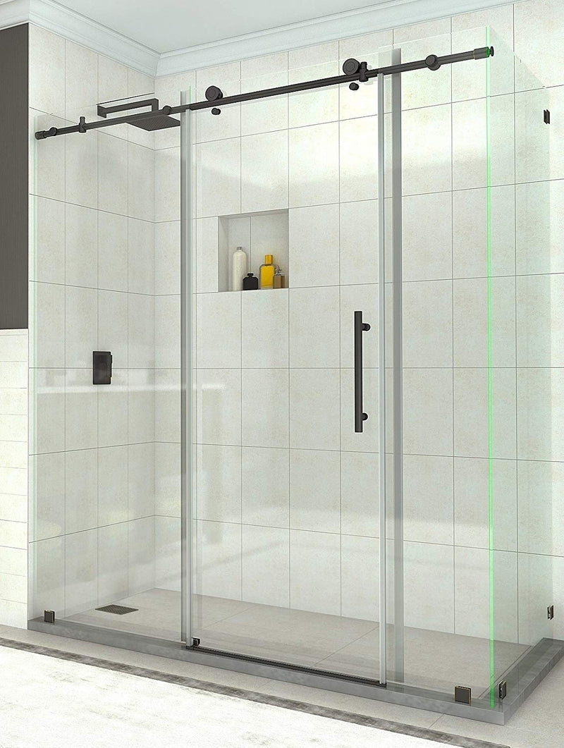 Aston Coraline 68 in. to 72 in. x 33.875 in. x 76 in. Frameless Sliding Shower Enclosure in Oil Rubbed Bronze