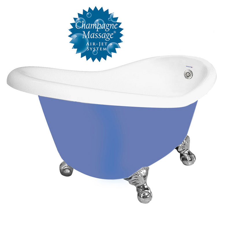 "American Bath Factory Champagne Ascot 60"" Splash of Color AcraStone Tub & Drain, No Faucet Holes"