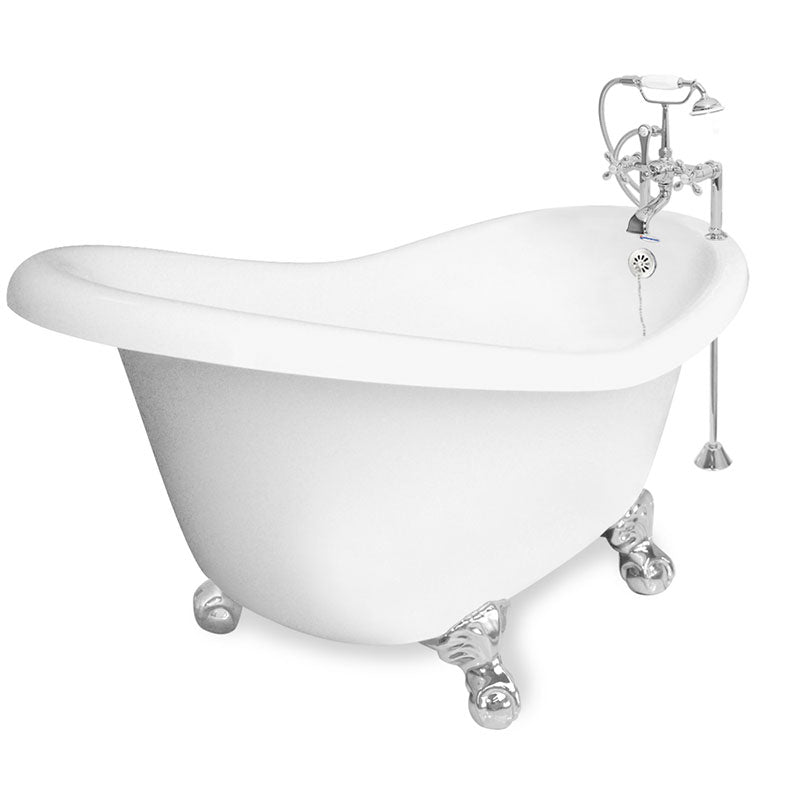 "American Bath Factory Ascot 60"" White AcraStone Package"