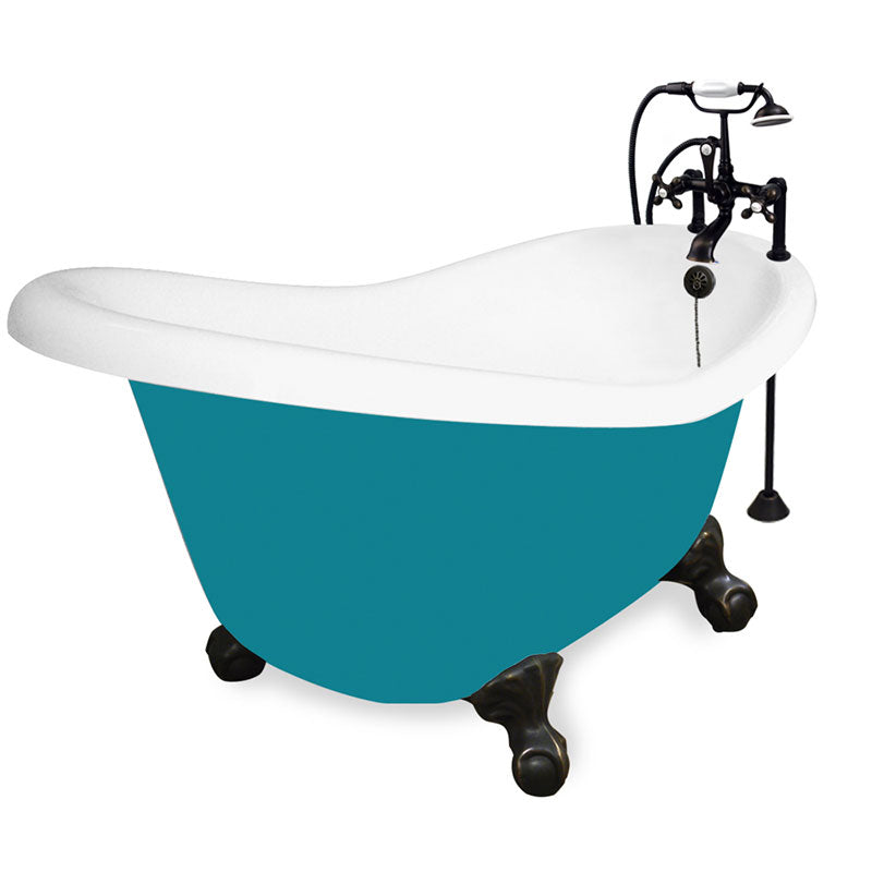"American Bath Factory Ascot 60"" Splash of Color AcraStone Package"