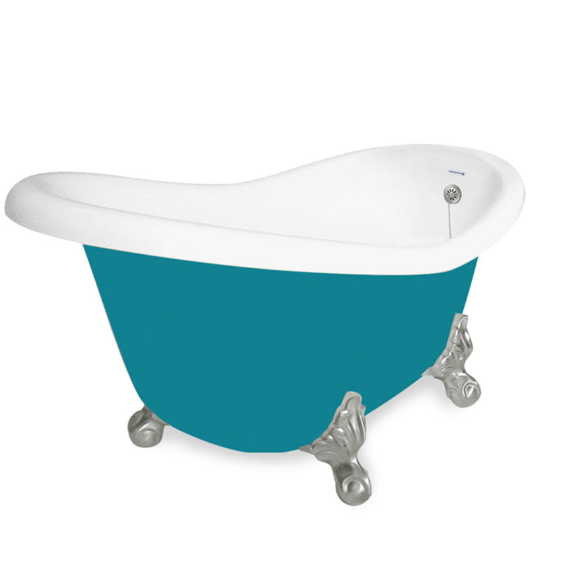 "American Bath Factory Ascot 60"" Splash of Color AcraStone Tub & Drain, No Faucet Holes"