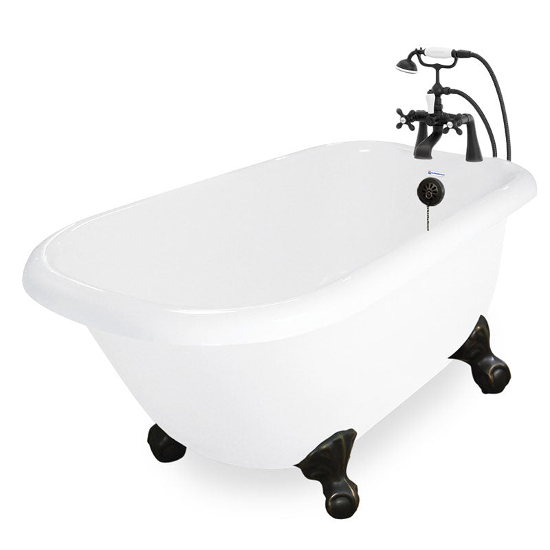 "American Bath Factory Jester 54"" White AcraStone Package"