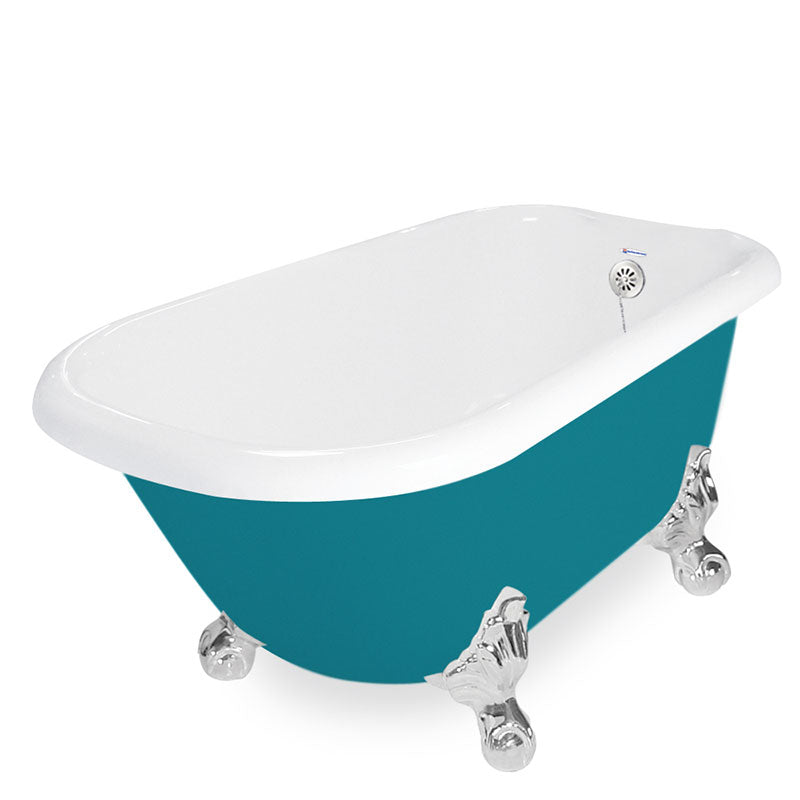 "American Bath Factory Jester 54"" Splash of Color AcraStone Tub & Drain, No Faucet Holes"