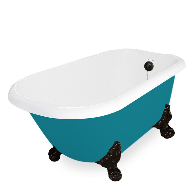 "American Bath Factory Jester 54"" Splash of Color AcraStone Tub & Drain, 7"" Faucet Holes"
