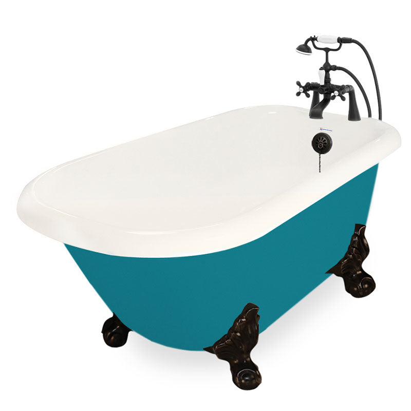 "American Bath Factory Jester 54"" Bisque AcraStone Package"