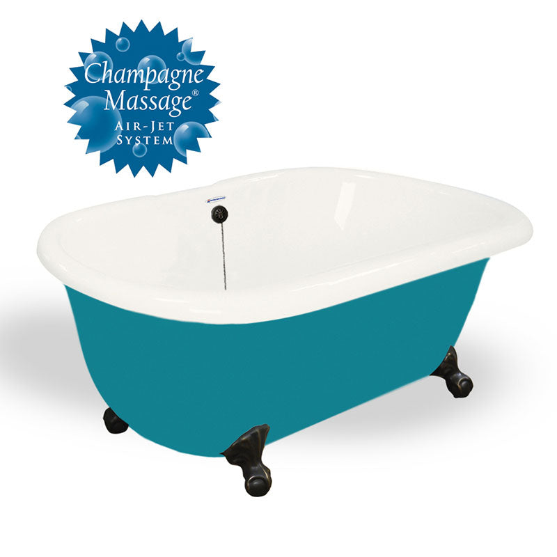 "American Bath Factory 60"" Melinda in Bisque and Splash of Color with Old World Bronze Finish and Pre-Drilled Holes"