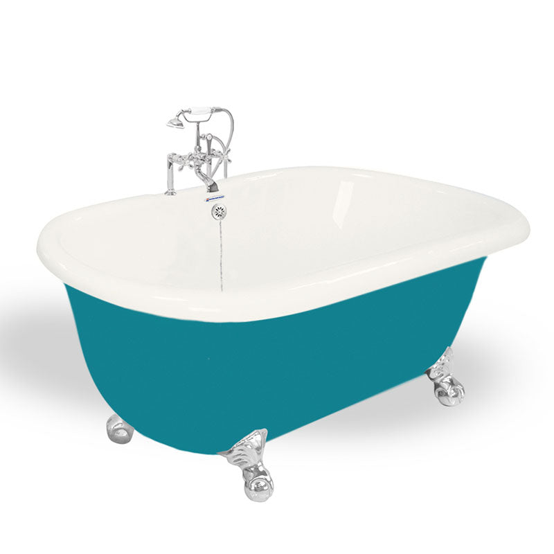 "American Bath Factory Melinda 60"" Bisque AcraStone Package"