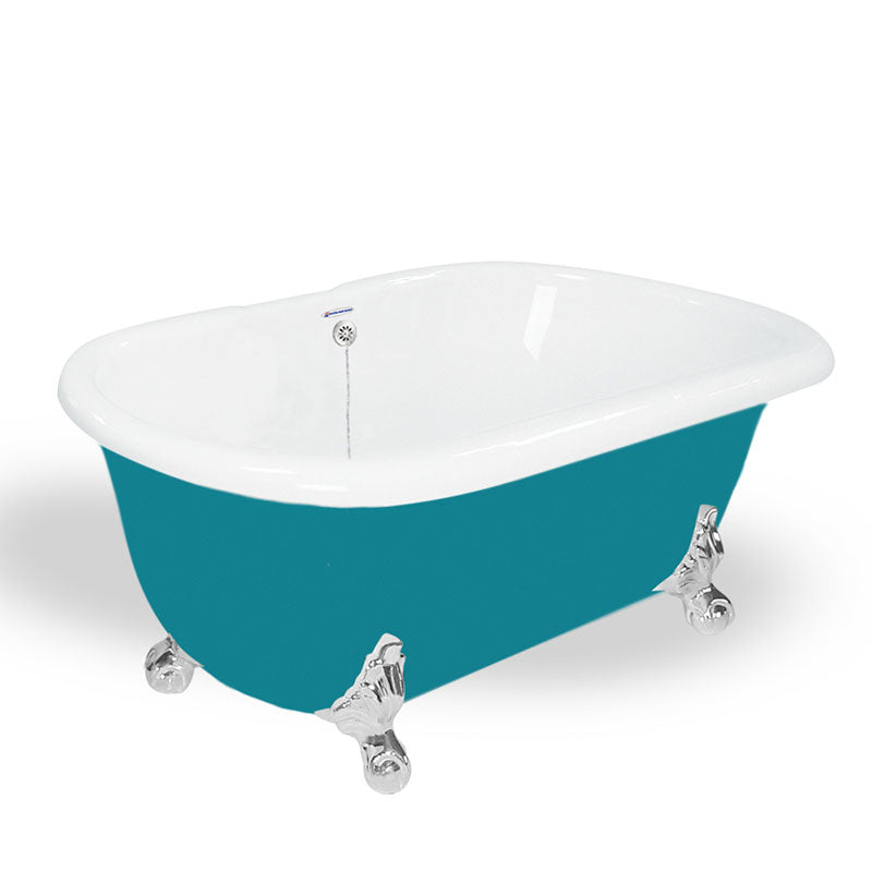 "American Bath Factory Melinda 60"" Splash of Color AcraStone Tub & Drain, 7"" Faucet Holes"