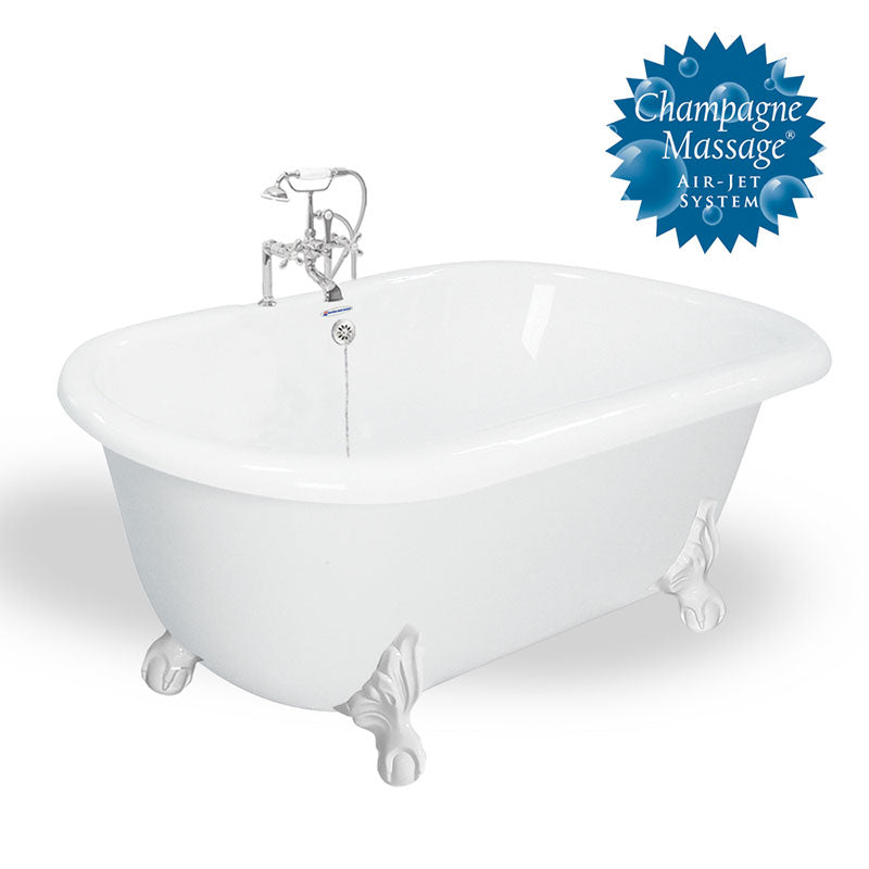 "American Bath Factory Melinda 60"" White AcraStone Package"