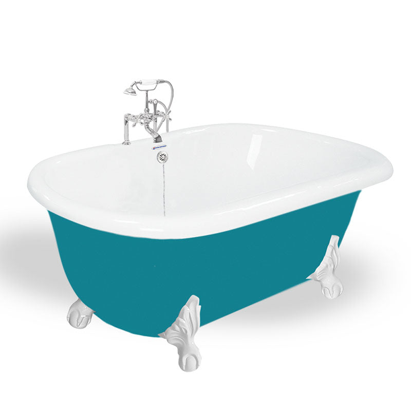 "American Bath Factory Melinda 60"" Splash of Color AcraStone Package"