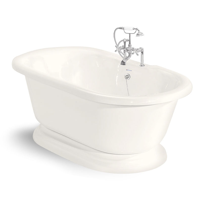 "American Bath Factory Nobb Hill 60"" Bisque AcraStone Package"