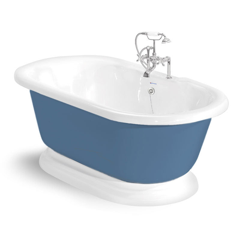 "American Bath Factory Nobb Hill 60"" Splash of Color AcraStone Package"