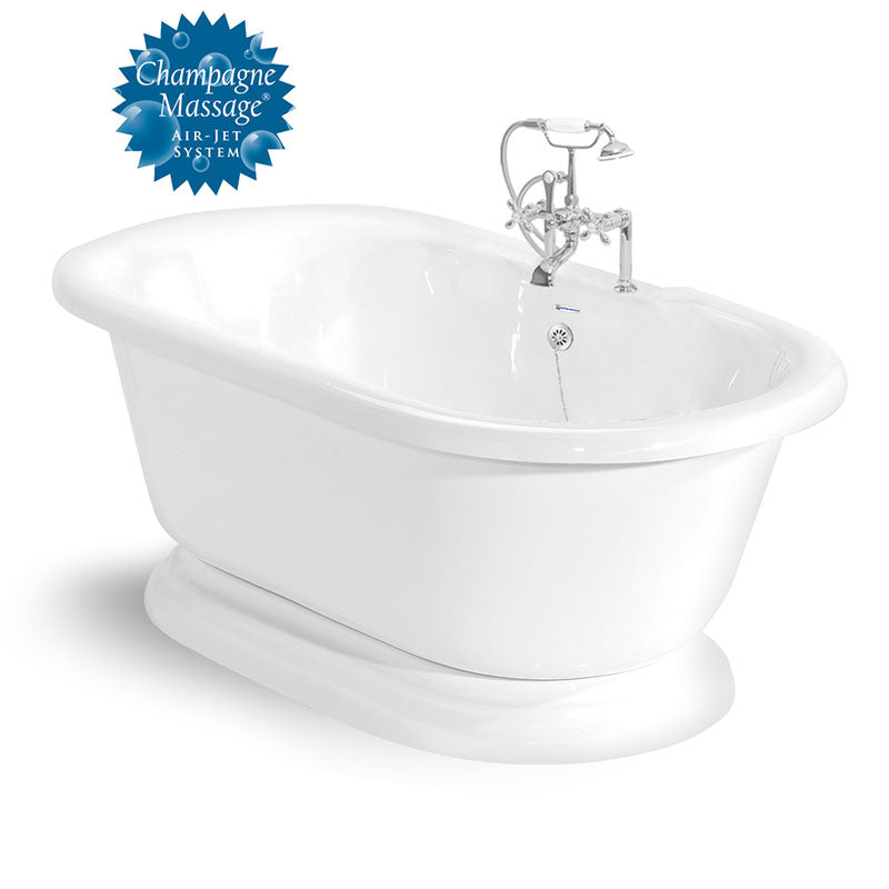 "American Bath Factory Beacon Hill 70"" White AcraStone Package"