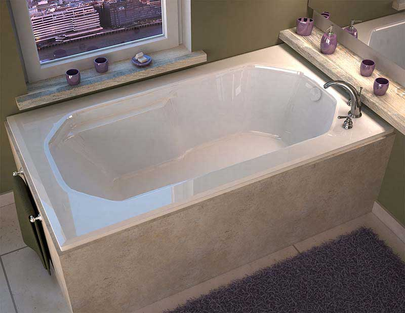 Venzi Irma 36 x 60 Rectangular Soaking Bathtub with Reversible Drain By Atlantis