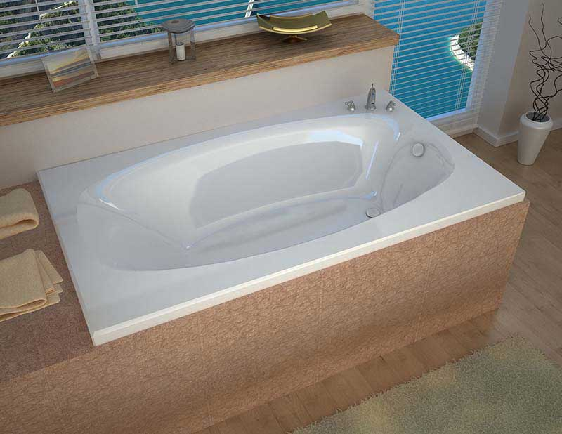 Venzi Talia 42 x 66 Rectangular Soaking Bathtub with Reversible Drain By Atlantis