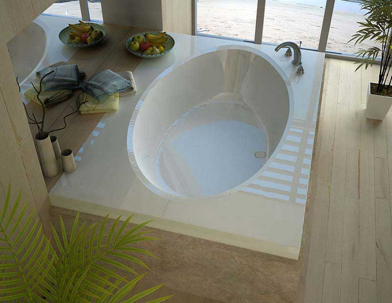 Venzi Viola 42 x 72 Rectangular Soaking Bathtub with Center Drain By Atlantis