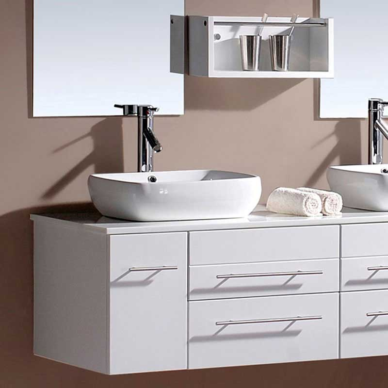 Virtu USA Augustine 59 Double Bathroom Vanity Set in White 2