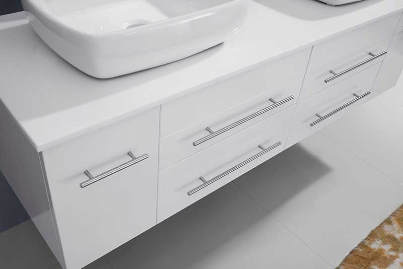 Virtu USA Augustine 59 Double Bathroom Vanity Set in White 5