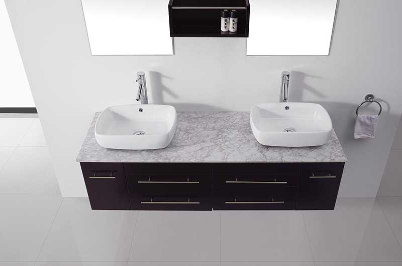 Virtu USA Augustine 59 Double Bathroom Vanity Set in Espresso 2