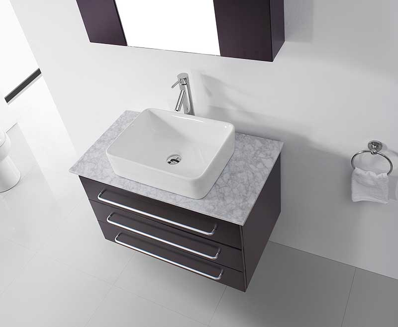 Virtu USA Ivy 32 Single Bathroom Vanity Set in Espresso