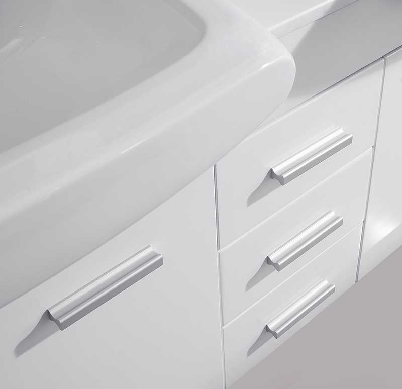 Virtu USA Ophelia 59 Double Bathroom Vanity Set in White 5