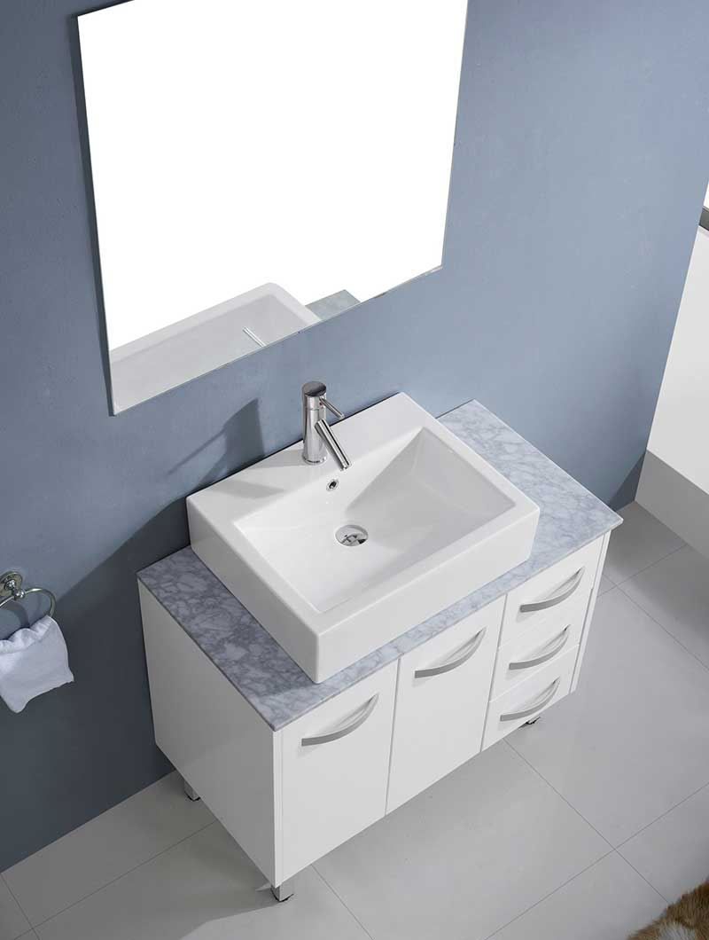 Virtu USA Tilda 36 Single Bathroom Vanity Set in White