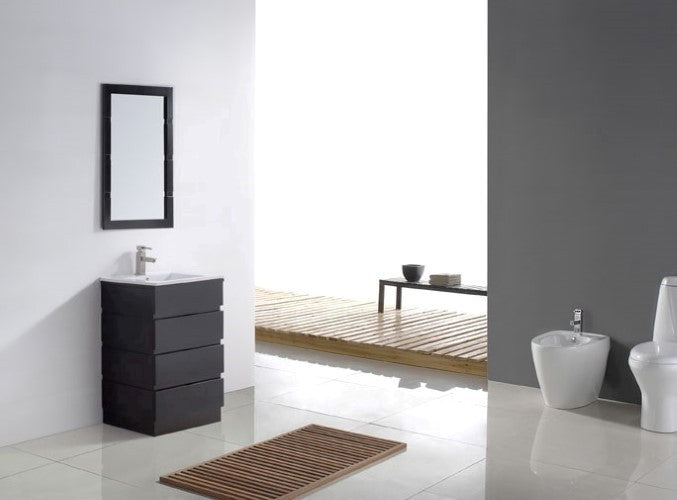 Virtu USA Bruno 24 Single Bathroom Vanity Set in Espresso 3