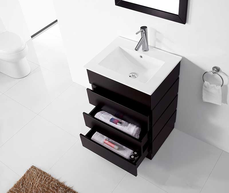 Virtu USA Bruno 24 Single Bathroom Vanity Set in Espresso 4