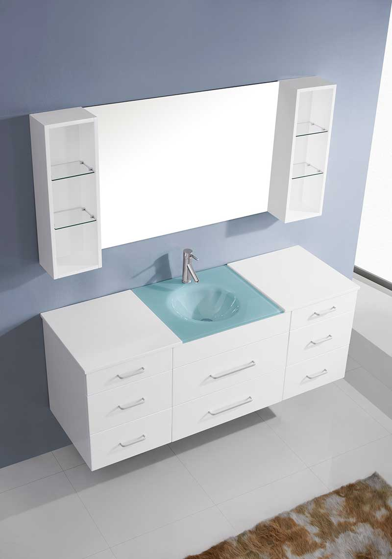 Virtu USA Columbo 63 Single Bathroom Vanity Set in White 3