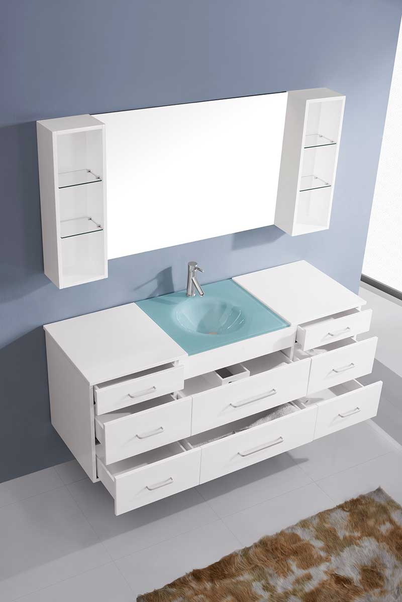 Virtu USA Columbo 63 Single Bathroom Vanity Set in White 4