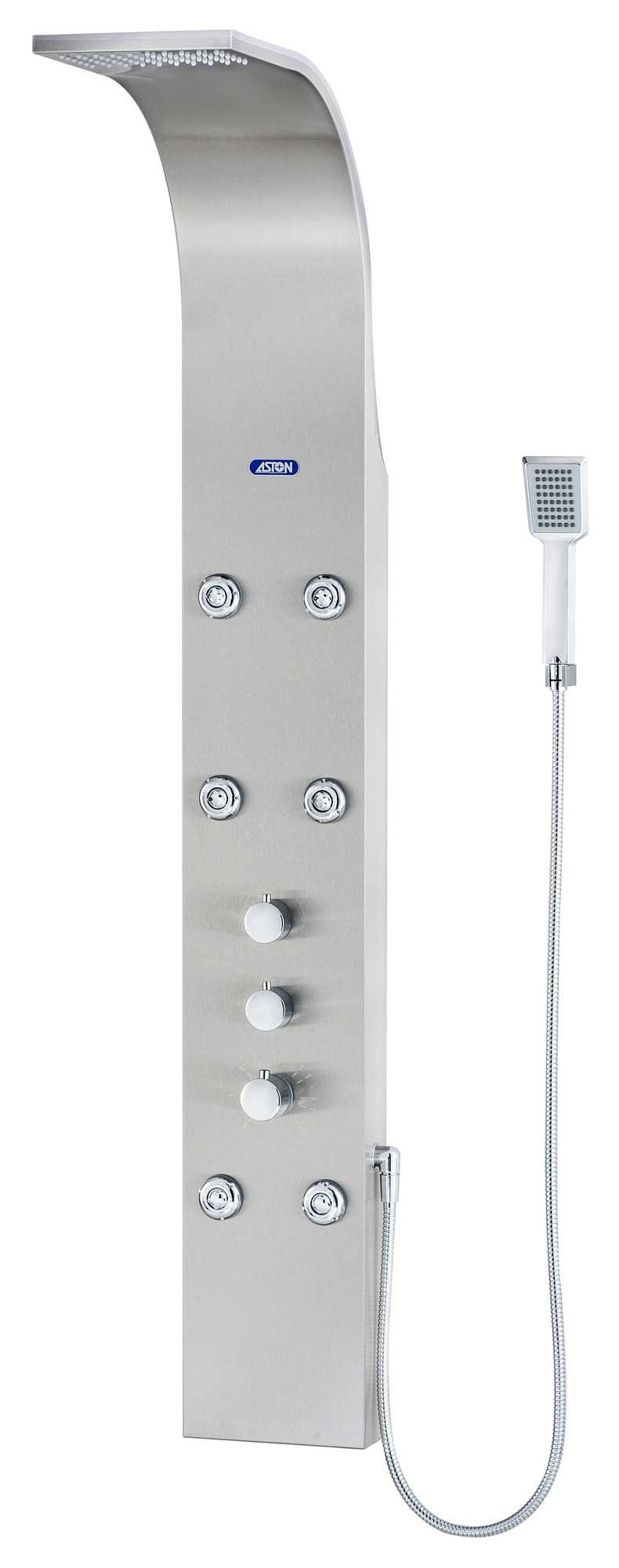 Aston Dual Function and Diveter Shower Panel with Six Body Jets