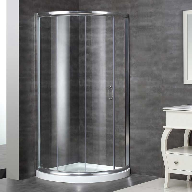 Aston Neo-Angle Door Round Shower Enclosure with Shower Base 2