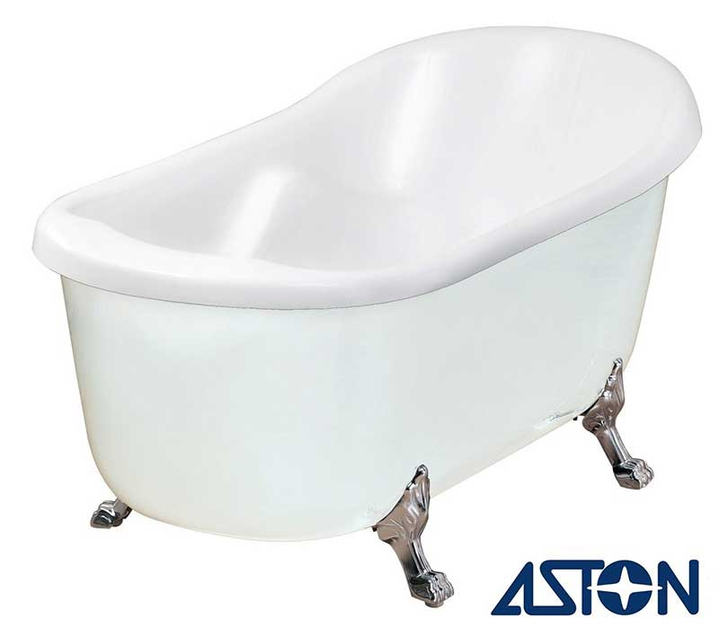 "Aston 67"" x 35"" Acrylic Claw Foot Slipper Tub"